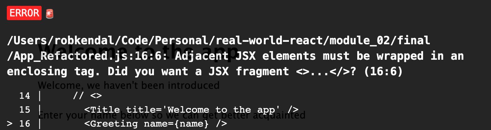 JSX error