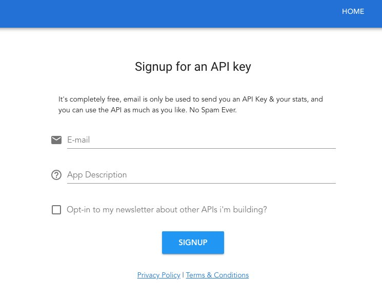 TheDogAPI- Dogs as a Service signup page