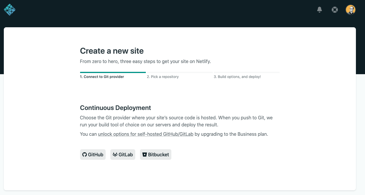 Create a new site page