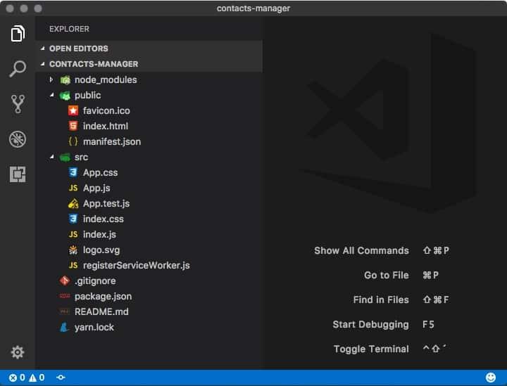 Create React App folder structure