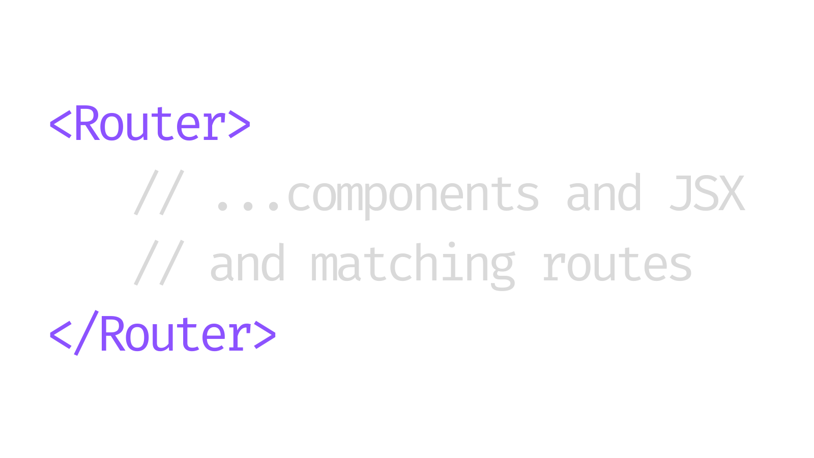 Browser router code snippet