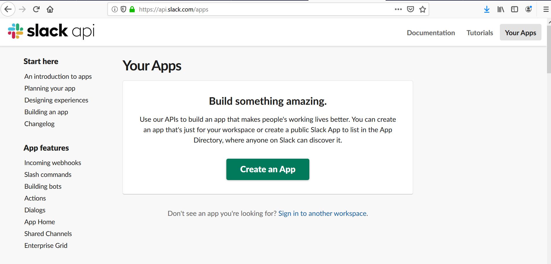 Slack Build App