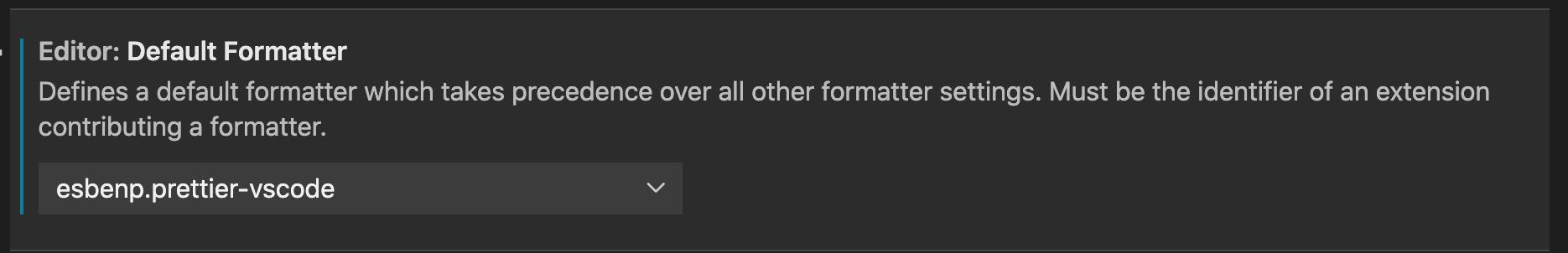 default formatter