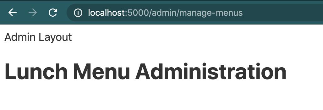 Admin layout