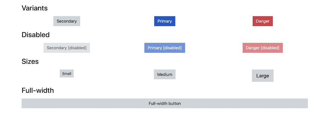 button styling example